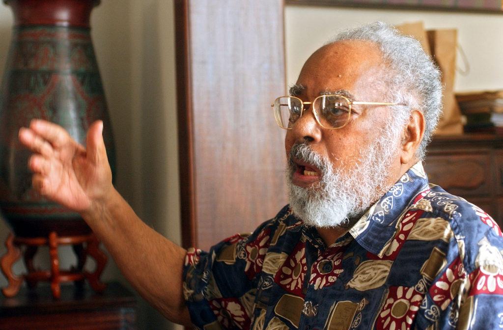 Abdias Nascimento, líder negro. Foto Alaor Filho - 01.04.2004