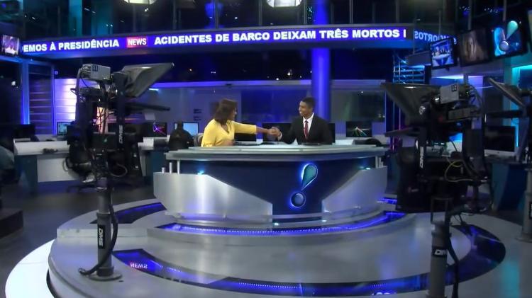 luciana-camargo-e-rodrigo-cabral-comemora-primeiro-telejornal-com-dupla-negra (UOL)