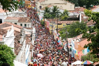 Cena do carnaval em Olinda, Pernambuco