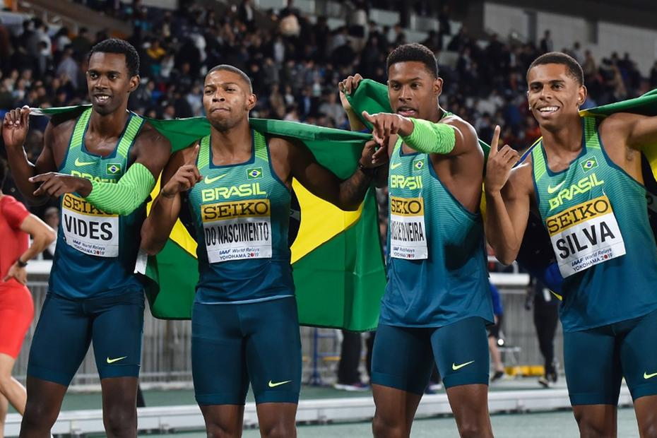 Brazil Beats the USA and takes the gold in the 4x100m World Relays