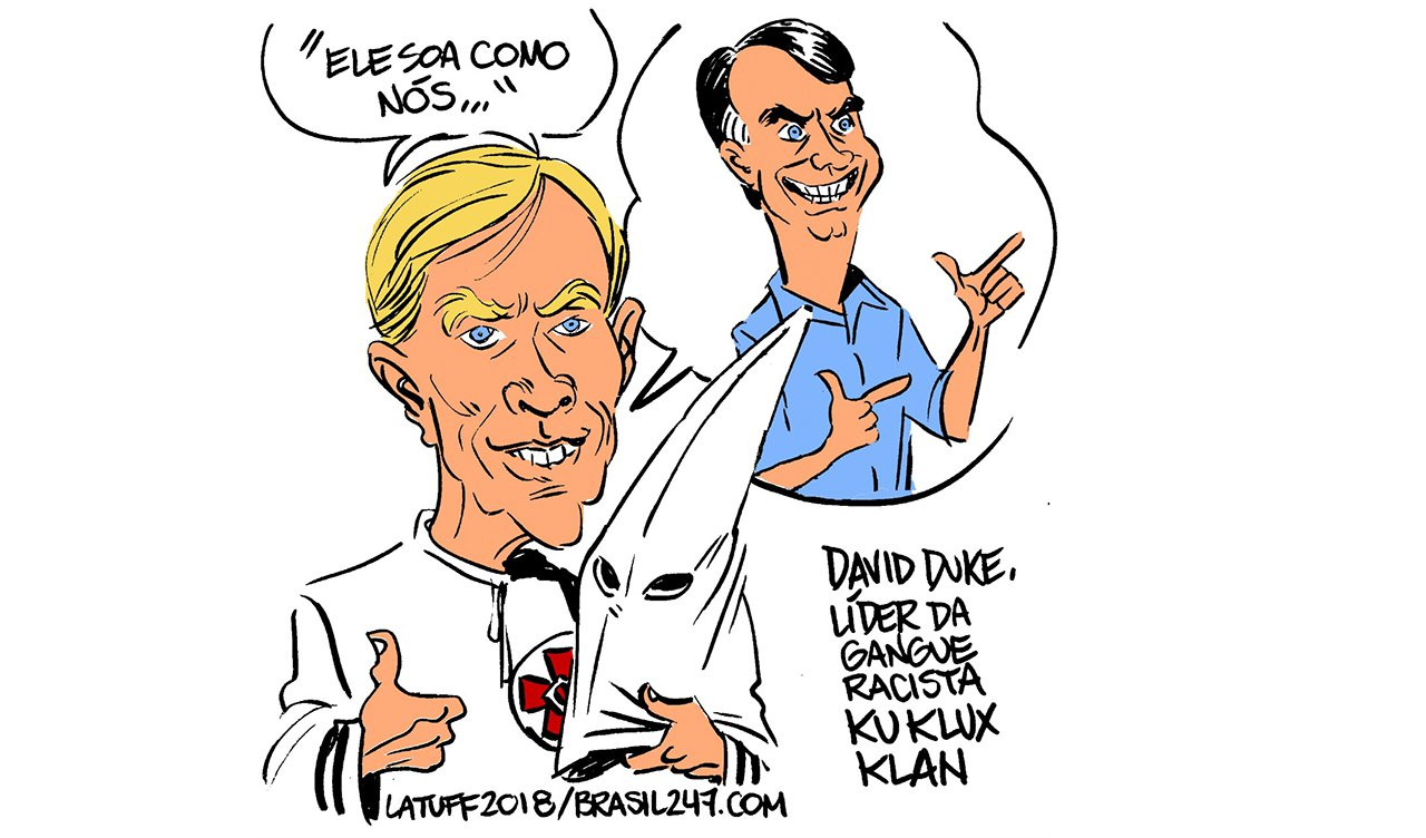President Bolsonaro is the Racist Chief of the Brazilian Ku Klux Klan