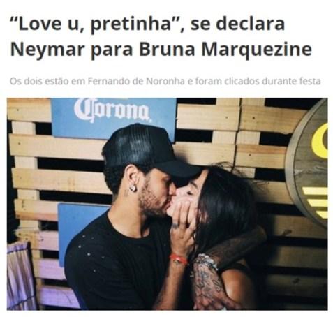 Neymar - Bruna - pretinha