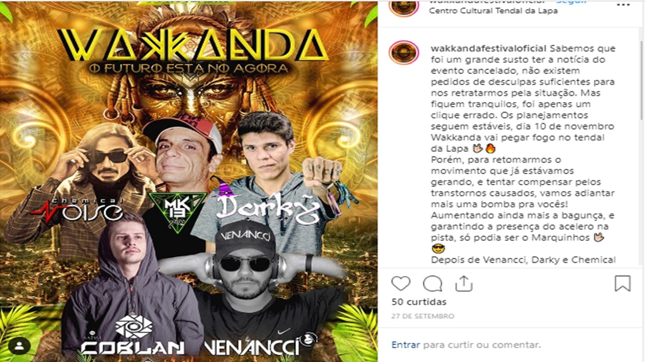 Wakanda Festival will happen in São Paulo without any black artists