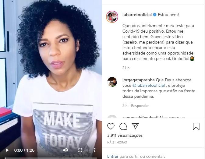 Luciana Barreto Reveals She Has Contracted The Coronavirus