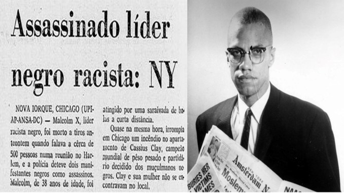 Malcolm X Racist Black Leader Murdered in New York in 1965