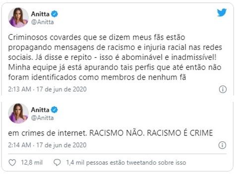 Anitta on racism - capa