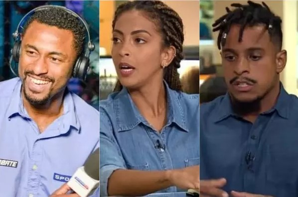 Diego Moraes, Rafaelle Serafim e Marcos Luca Valentim - Grupo Globo lança o podcast Ubuntu Esporte Clube