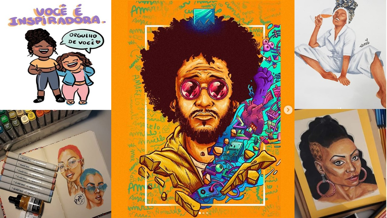 Four black Brazilians Artists for You to know and Admire their Illustrations