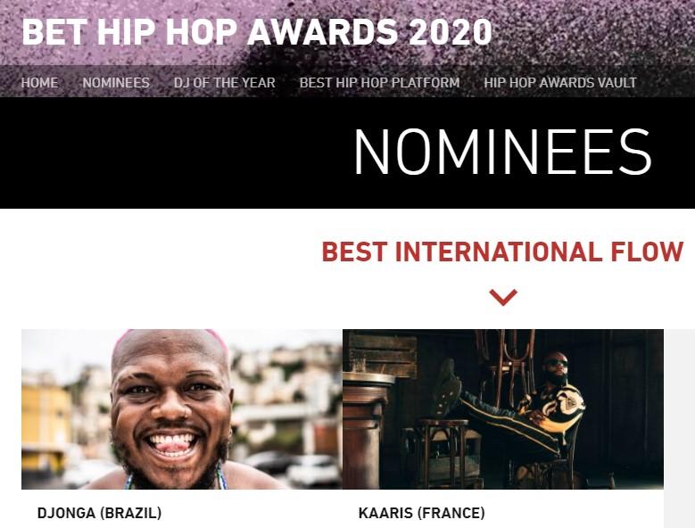 Rapper Djonga nominated for BET Award
