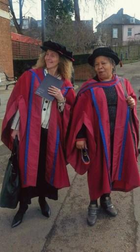 Dr. Deirdre Osborne and Professor Joan Aim-Addo, at Goldsmiths, University of London