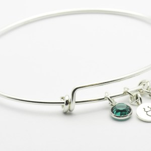 May Emerald Taurus Charm Bracelet