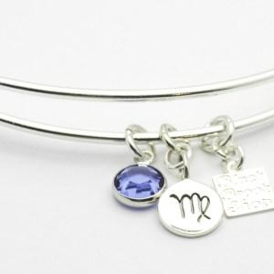 Sapphire Virgo Charm Bracelet