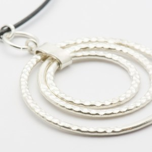 Silver Circles Pendant Necklace