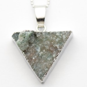 Fossil Gray Druzy Agate Necklace