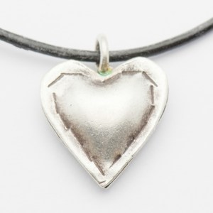 Silver Puff Heart Pendant Necklace