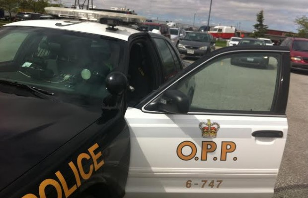 OPP cruiser with new licence plate scanning camera.