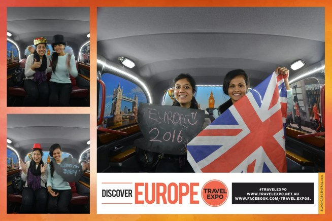 Flight Centre Discover Europe Travel Expo London Black Cab Photo Booth Taxi English British