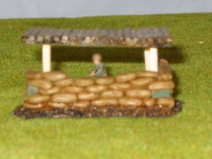Log Roof option for  40/20 Sandbag position