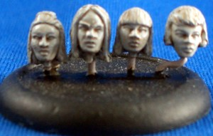 Female Heads 28mm scale 1