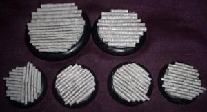 2x 50mm, 2x 40mm & 4x 30mm Bamboo Floor base inserts