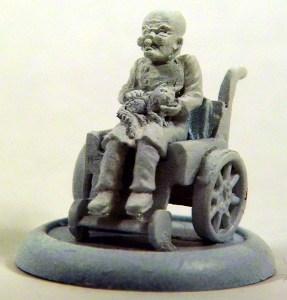 1 mad scientist in a wheelchair