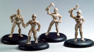 Zombies mixed pack, 4 zombies