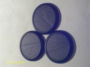 50mm plastic lipped bases x3