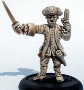 Royal Navy Leiutenant with pistol & sword 2