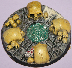 1x Skull Bases 60mm objective marker.