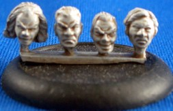 Male Heads 28mm scale 1