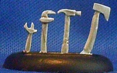 tool sprue axe, hammer, wrench, spanner