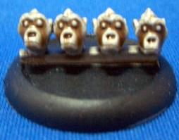 Ape heads 28mm scale