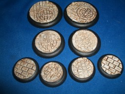 1x 50mm, 1x 40mm & 4x 30mm Broken Sword base inserts