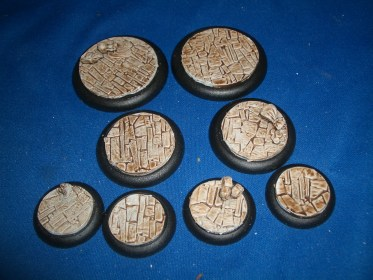 1x 50mm, 1x 40mm & 4x 30mm Irregular Stone Floor base inserts