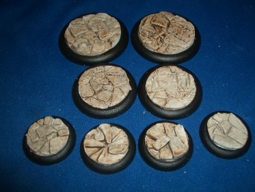 1x 50mm, 1x 40mm & 4x 30mm Barren Earth base inserts