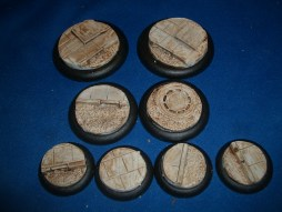 1x 50mm, 1x 40mm & 4x 30mm Roads & Pavements base inserts