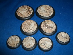 3x Sand and Slate 50mm base inserts