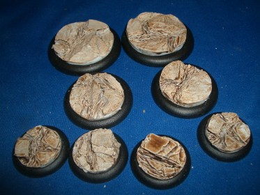 3x Volcanic Earth 50mm base inserts