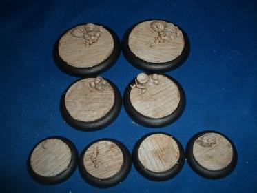 1x 50mm, 1x 40mm & 4x 30mm Wooden Plank Floor base inserts