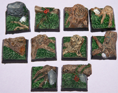 10x Dark Wood 20mm bases.
