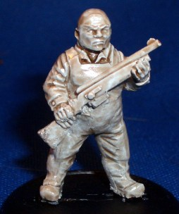 Fisherman with rifle