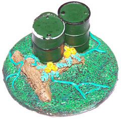 1x Jungle Terrain 60mm objective marker.