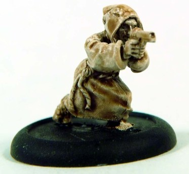 1 crouching cultist with a pistol