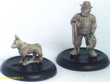 Farmer/Poacher/Gamekeeper with dog
