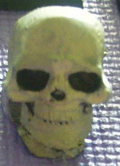 4x 28mm scale Giant skulls.