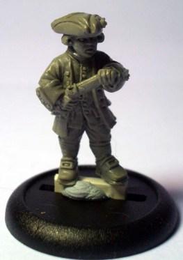 Royal Navy Midshipman with pistol