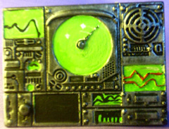 1x technical panel, 40mm x 55mm scenery piece.