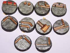 12x Technical Range 25mm bases.