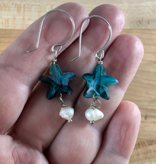 swarovski earrings sterling starfish