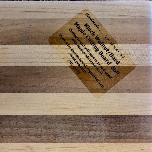 black walnut maple cutting board